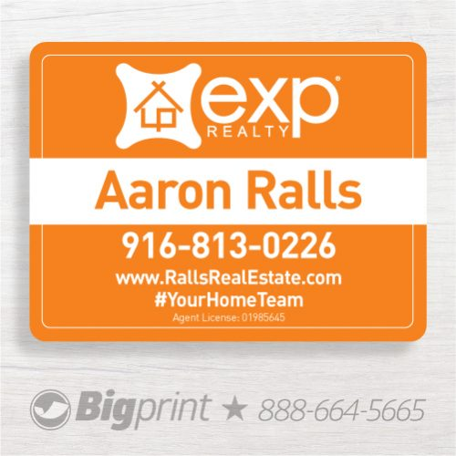exp realty for sale sign 18 x 24 inch clean design